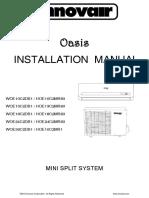 Innovair Oasis Mini Split 2nd Gen Installation Manual English