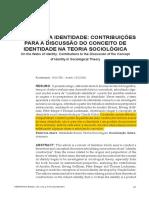 CONCEITO DE IDENTIDADE