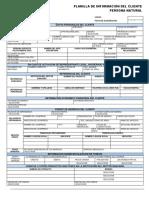 Planilla de Informacion Del Cliente PN Mercantil