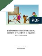 III congreso online internacional sobre la Educación del siglo XXI