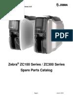 Zebra ZC100/ZC300 Series - Spare Parts Catalog