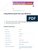 4 Day Shred Cycle Fat Loss Workout _ Muscle & Strength