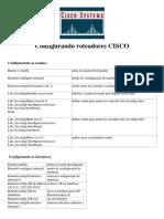 Configurando Roteadores CISC