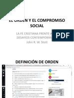El Orden y El Compromiso Social
