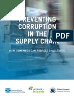 Preventing Corruption in The Supply Chain