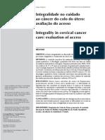 Texto Integralidade no cuidado ao câncer do colo do útero- avaliação do acesso