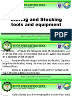 cooking and stocking tools and equipment