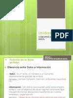Unidad 1 - Concepto de Bases de Datos
