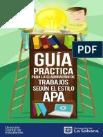Apa Guia de Citacion Direccion Central de Estudiantes 2019 Marzo Universidad de La Sabana