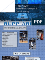 Find a Way College Basketball Strength and Conditioning
