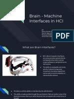 Brain - Machine Interfaces in HCI