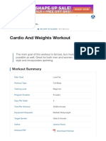 Cardio and Weights Workout _ Muscle & Strength