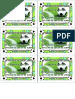 Tarjetas de Cumplaños Modelo de Futbol