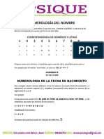 Numerologia de La Personalidad