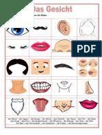 Bilderworterbuch Das Gesicht Aktivitatskarten Arbeitsblatter Bildworterbucher e 117603