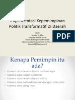 Implementasi Kepemimpinan Politik Di Daerah-lemhanas 2019 (Suyoto)