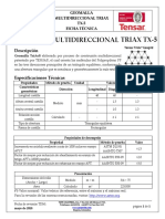 Geomalla Multidireccional Triax TX-5