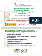 1 - Enfermedades Causadas Por Xylella Fastidiosa. Plasticidad Genética y Rango de Huéspedes -Copiado