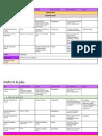 Planificación Semana Del 15 Al 19 de Julio Del 2019
