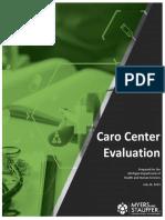Caro Center Evaluation