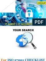 ISO 27001 Checklist -IT Security