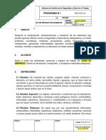 PRG-SST-014 Programa de Manejo de Productos Quimicos