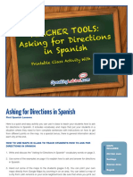Asking for Directions in Spanish Excersise Maps