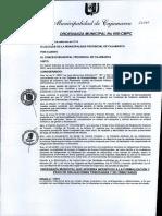 Ordenanza Municipal Cajamarca