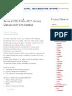Xerox 4112G Xerox 4127 Service Manual and Parts Catalog