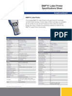 BMP®51 Label Maker Specifications Sheet