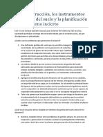 La reconstrucción, los instrumentos de gestión del suelo y la planificación en un entorno incierto