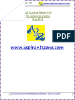 A2Z May 2019 Current Affairs PDF