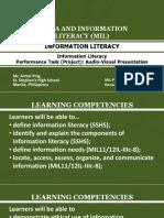 MIL - INFORMATION LITERACY