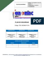 Plan de Seguridad Supermix Mamtenimiento de Planta