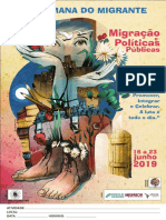 cartaz Semana do Migrante 2019