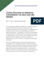 Como Funciona El Gobierno Colombiano