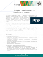 Fundamentacion Pedagogica Ensenanza Lenguas