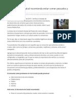 27-07-2019 La Secretaría de Salud recomienda evitar comer pescados y mariscos crudos - El sol de Hermosillo