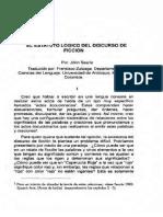 Searle, John R. (1975) - El estatuto lógico del discurso de ficción.pdf