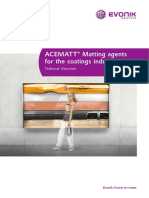 Acematt Matting Agents for the Coatings Industry