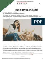 Aprende El Poder de La Vulnerabilidad - ELESPECTADOR.com