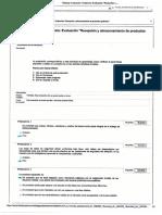 Evaluación Enviada Evidencia Evaluación Recepción y Almacenamiento de Productos Químicos