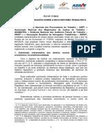 ANAMATRA Nota Tecnica Entidades Contra Plv 17 Liberdade Ecnomica