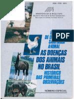 As Doenças Dos Animais No Brasil - Histórico Das Primeiras Observações