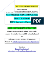 Ignou Mba Solved Assignments 2019