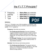 SMS What is the FITT Principle 1