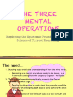 5 Three Mental Operations