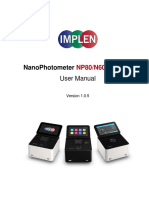 Implen Nanophotometer User Manual V1.0.5