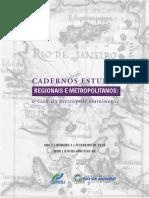Cadernos de Estudos Regionais e Metropolitanos
