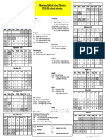 2019-2020 School-Year Calendar, Martinez Unified School District: